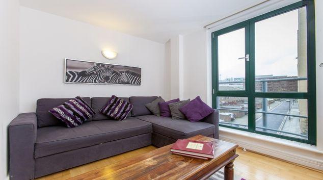Comfortable living area at Folgate Street Apartment