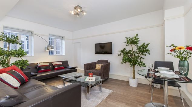 Living area at Liverpool Street Apartments