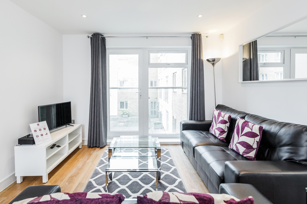 Living area at Abbots Yard Apartments, Centre, Guildford