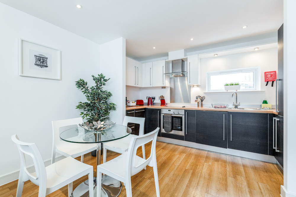 Dining area at Abbots Yard Apartments, Centre, Guildford