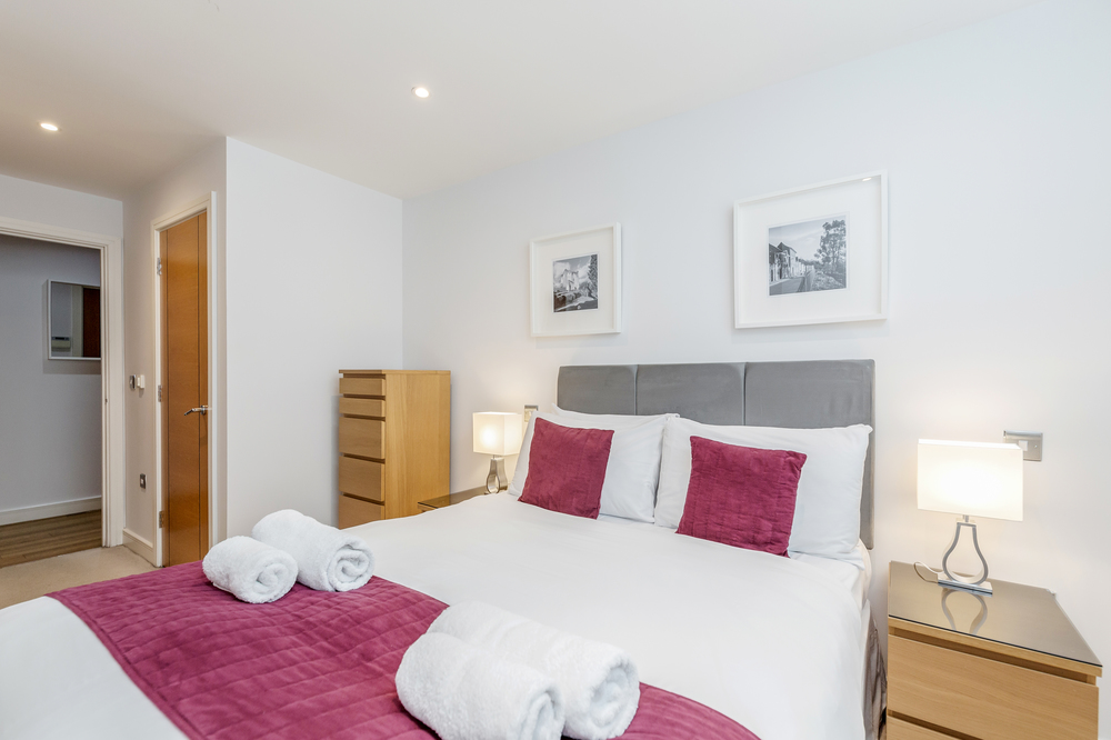 Bedroom at Abbots Yard Apartments, Centre, Guildford