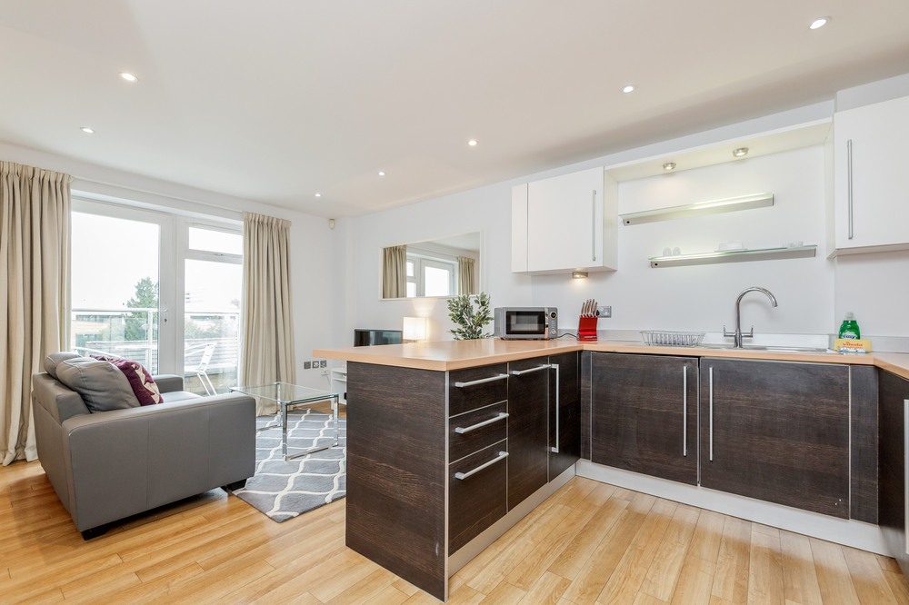 Kitchen at Abbots Yard Apartments, Centre, Guildford