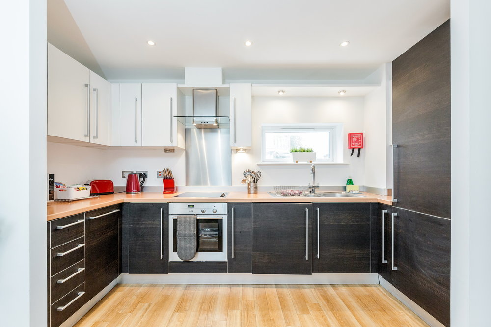 Fully equipped kitchen at Abbots Yard Apartments, Centre, Guildford