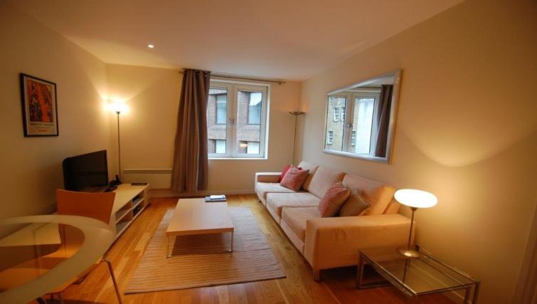 Living area in Hosier Lane Apartment