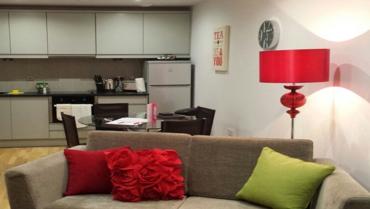 Living space at Eden House Apartments