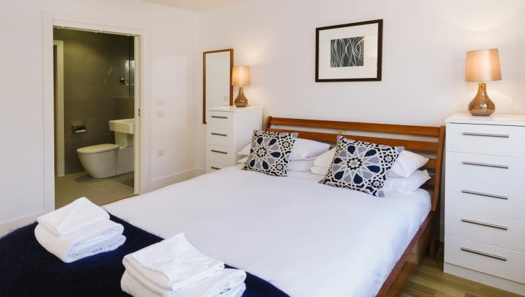 Bed at Eden House Apartments