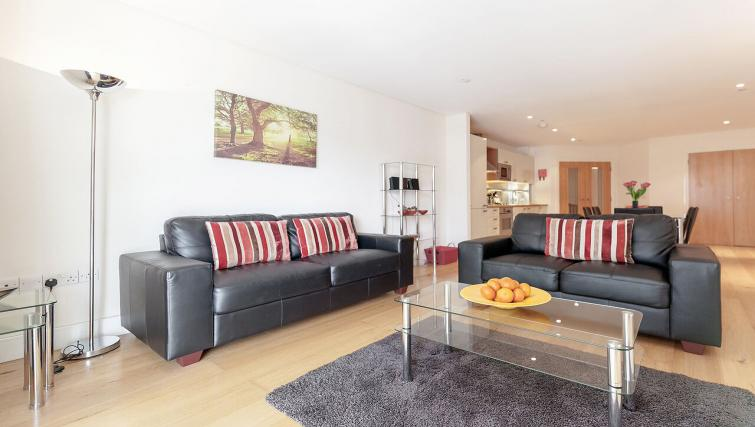 Cosy living area in Marina Place Apartments