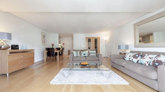 Classic living area in Marina Place Apartments