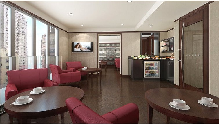 Communal lounge at Somerset Victoria Park Apartments