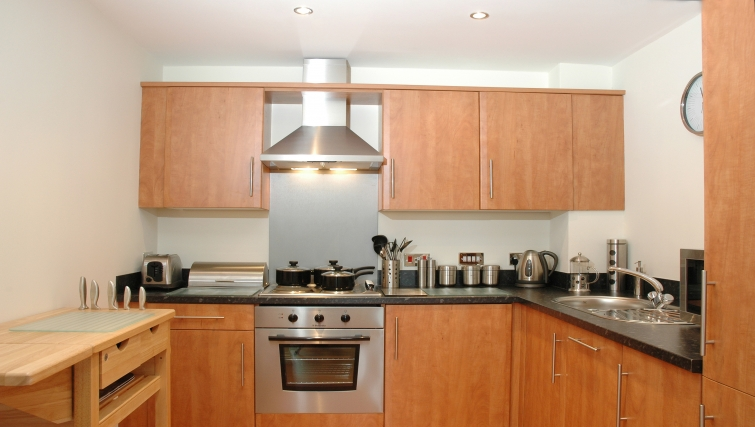 Kitchen in Curzon Places