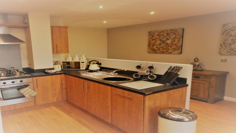 Equipped kitchen at Curzon Place