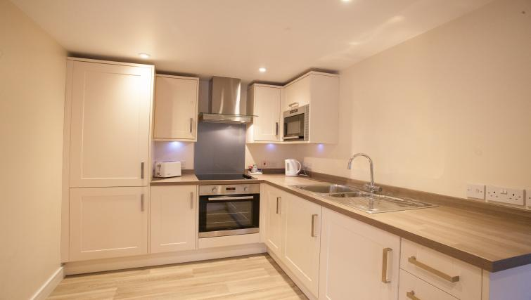 Bright kitchen at The Willows Apartments