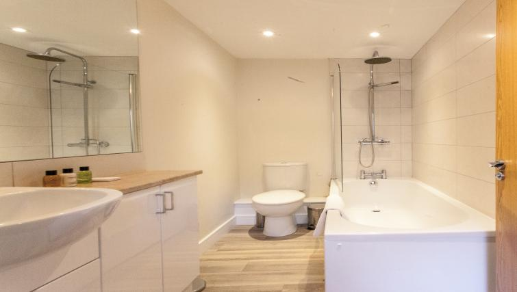 Modern bathroom at The Willows Apartments