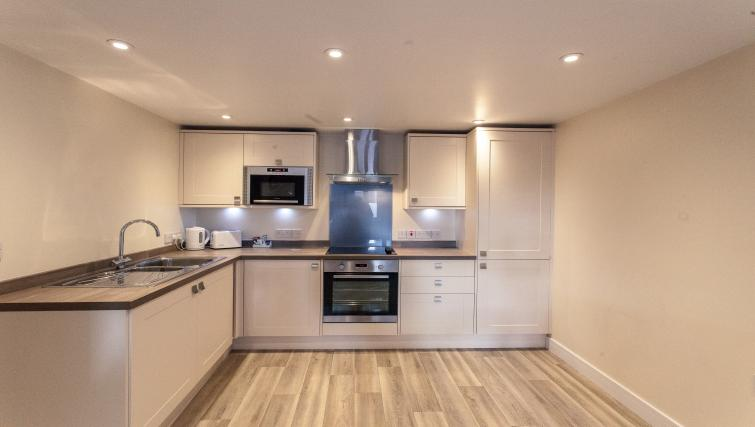 Fully equipped kitchen at The Willows Apartments