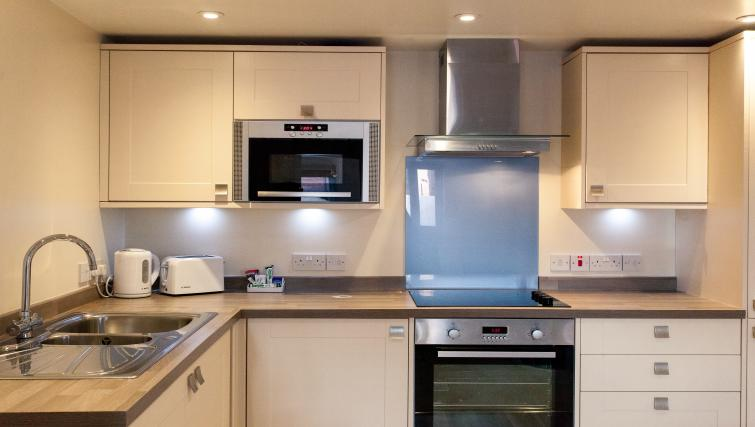 Equipped kitchen at The Willows Apartments