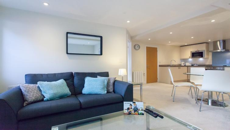 Bright living area at The Willows Apartments