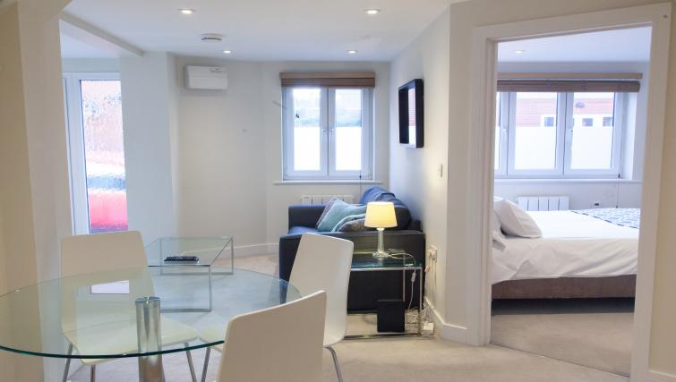 Open plan living space at The Willows Apartments