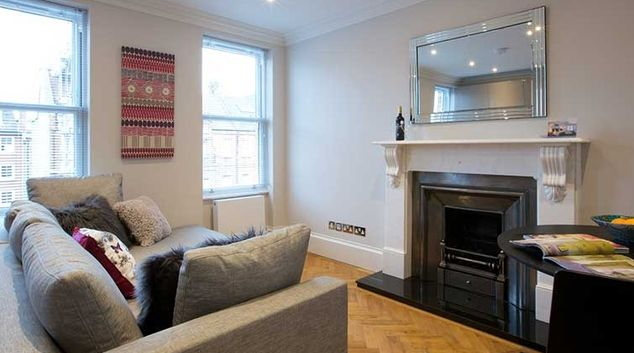 Living area at Flying Butler Ongar Road Apartments