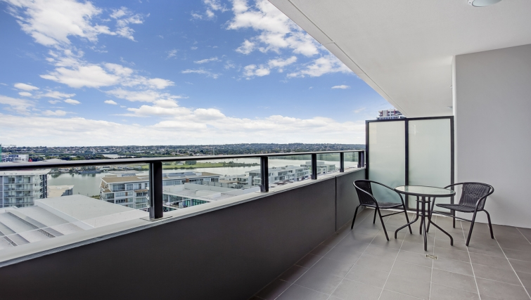 Balcony at Astra Apartments Rhodes Walker Street