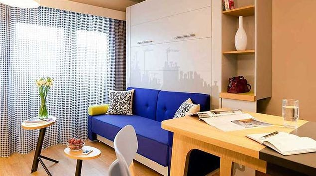 Living area at Adagio Access Munchen City Olympiapark