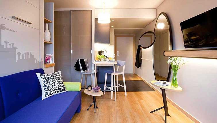 Living room at Adagio Access Munchen City Olympiapark