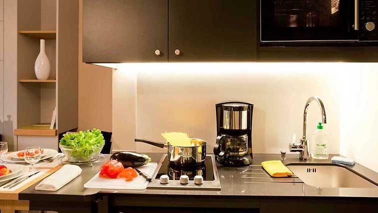Kitchen at Adagio Access Munchen City Olympiapark