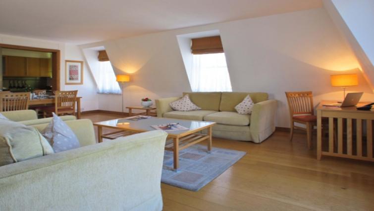 Living area at The Kings Wardrobe Apartments