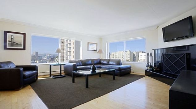 Living area at Clay Park Tower