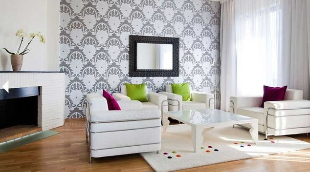 Living area at Thon Slottsparken Apartments
