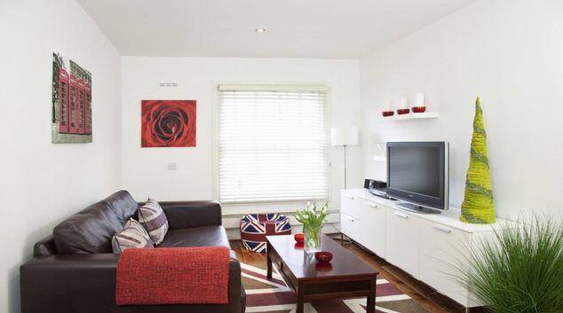 Modern living area at Marylebone Apartments