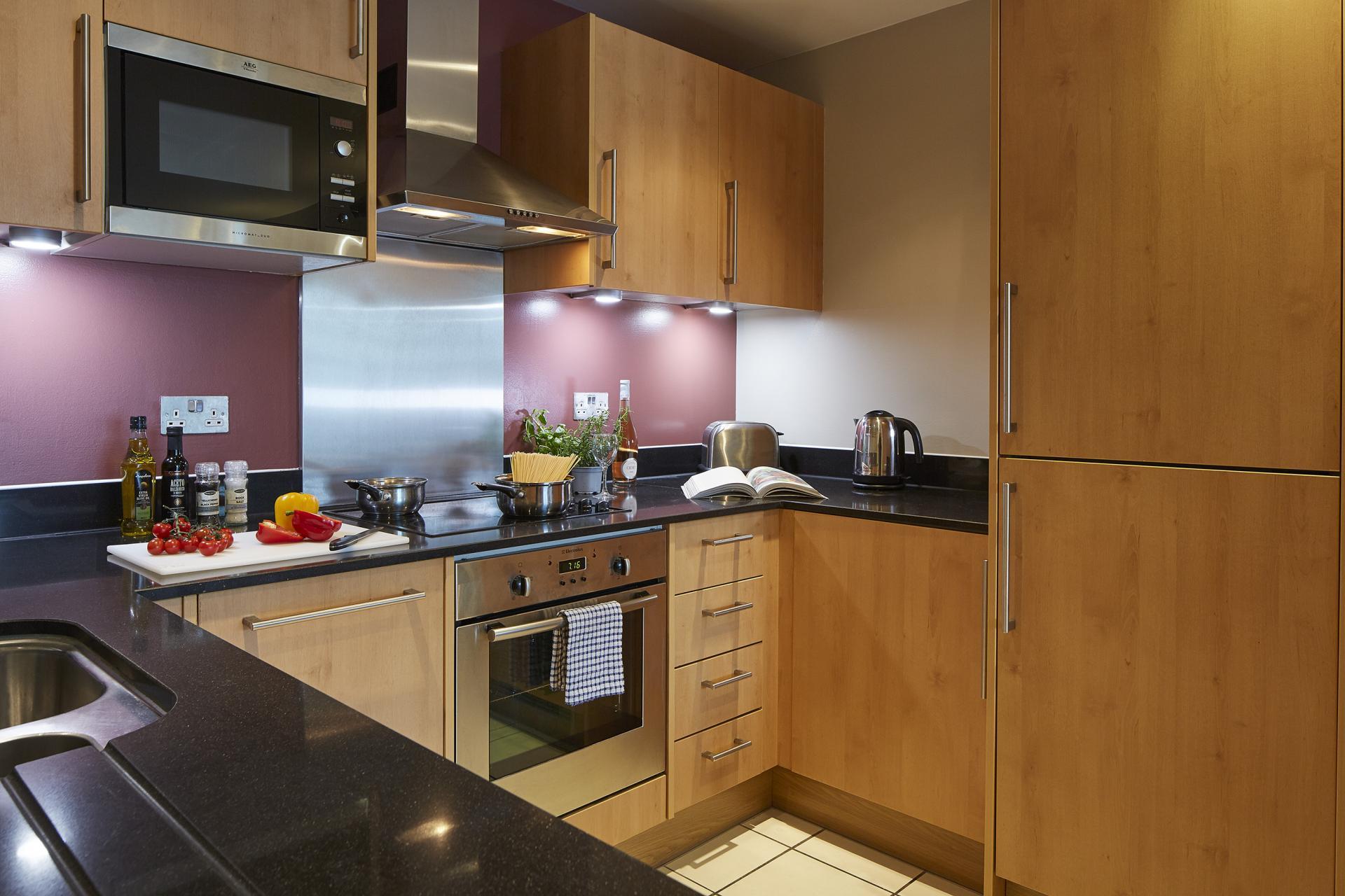 Kitchen at Empire Square Apartments, London Bridge, London