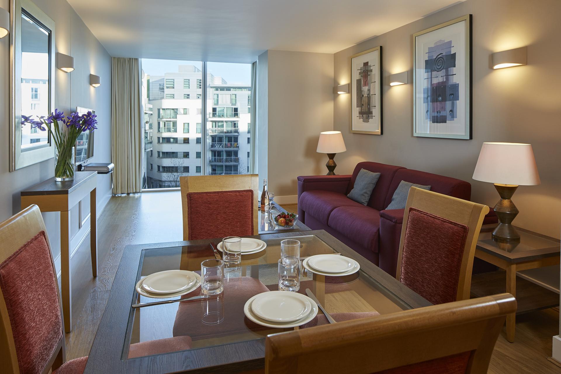 Dining area at Empire Square Apartments, London Bridge, London