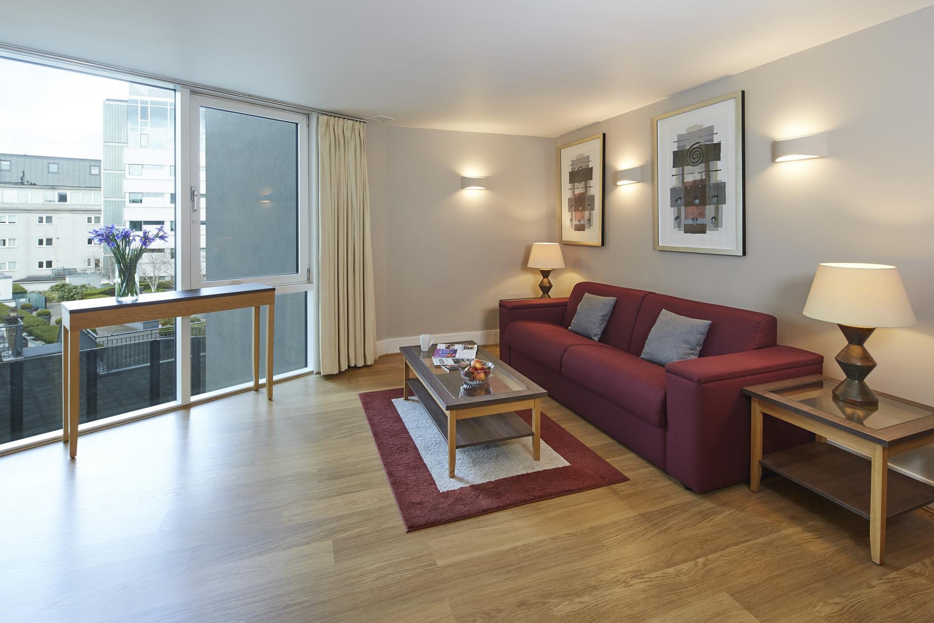 Sofa at Empire Square Apartments, London Bridge, London