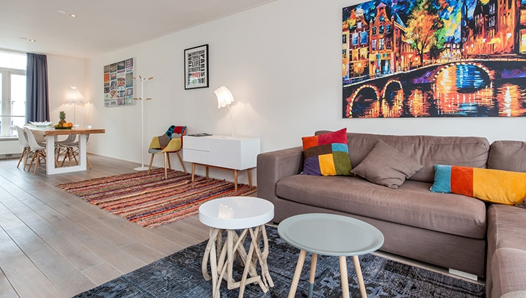 Open-plan living area at Old South Apartments, Amsterdam- Cityden