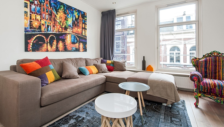 Modern living area at Old South Apartments, Amsterdam- Cityden