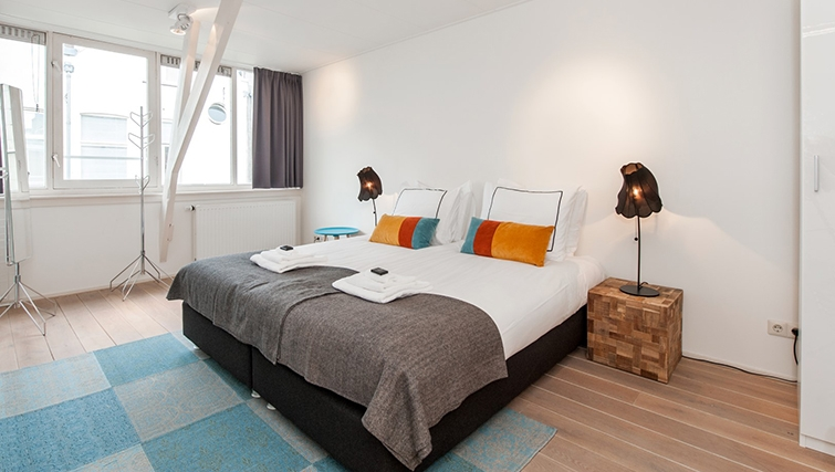 Double bedroom at Old South Apartments, Amsterdam- Cityden