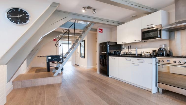 Modern kitchen at Canal Apartments, Amsterdam - Cityden