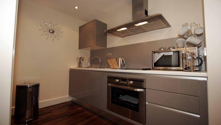 Modern kitchen in Lime Square Apartments