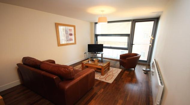 Living room at Lime Square Apartments