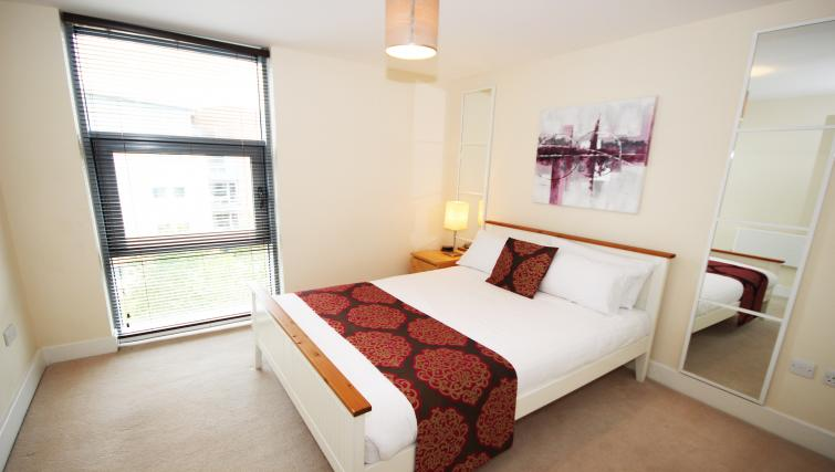 Double bedroom at Lime Square Apartments