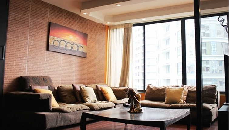 Living area at Winston Apartment