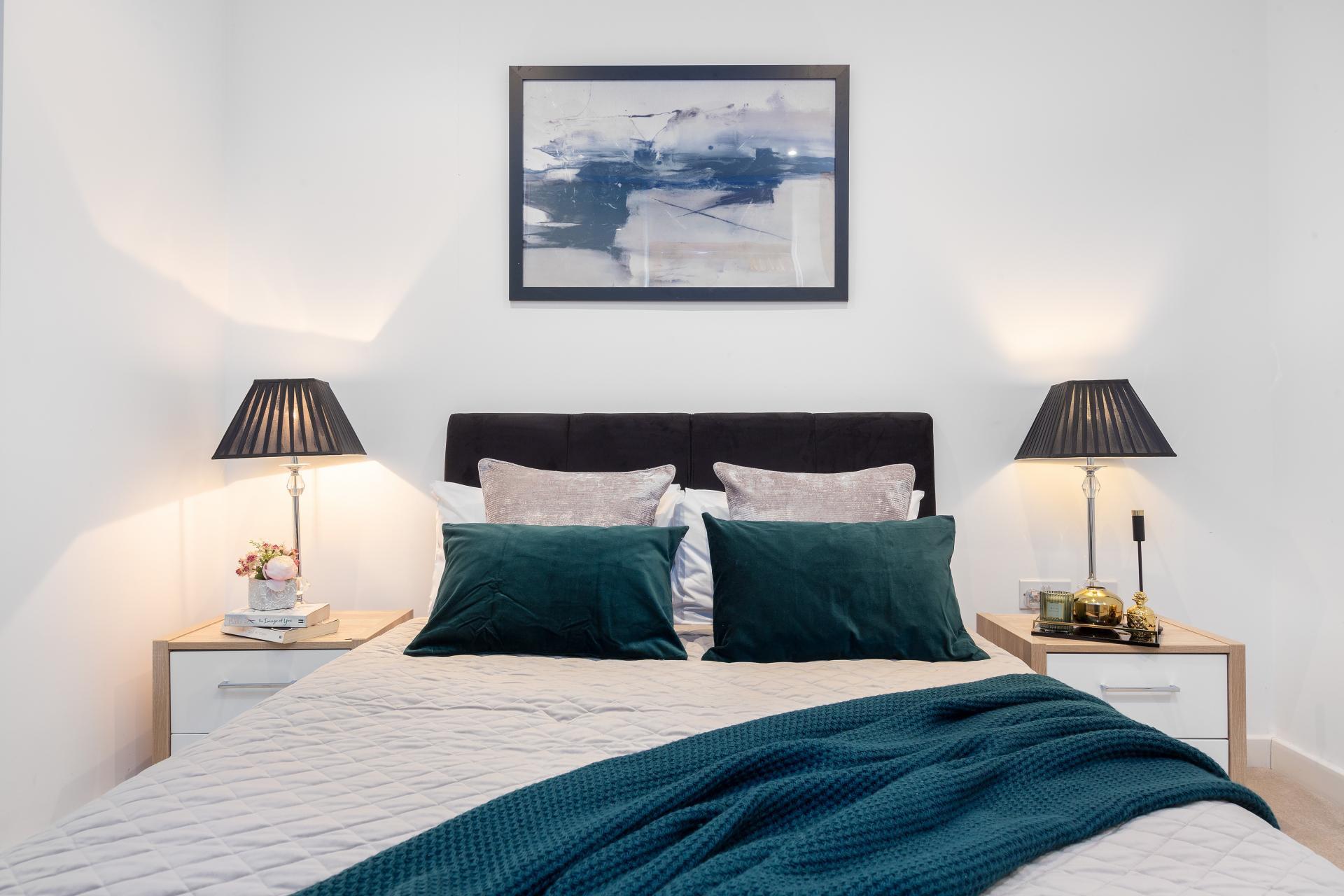 Bedspread at Lexicon Book House Apartments