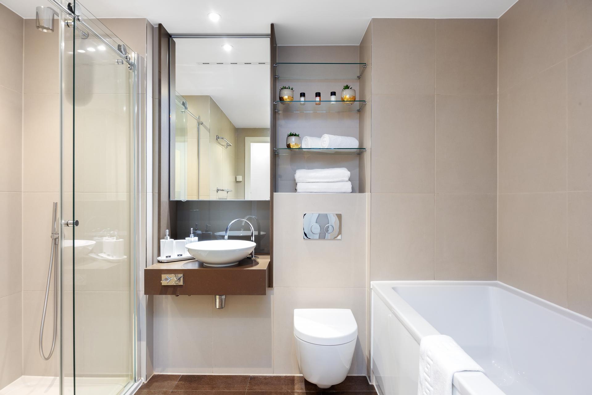Bathroom at Lexicon Book House Apartments