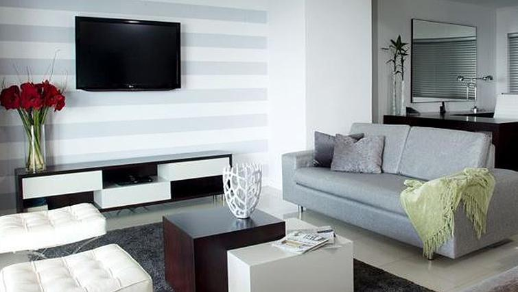 Modern living area at The Capital 20 West