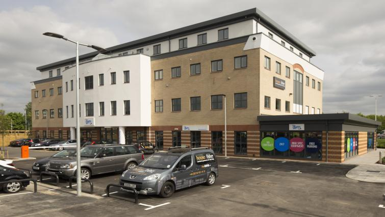 Car park at Beneficial House Apartments