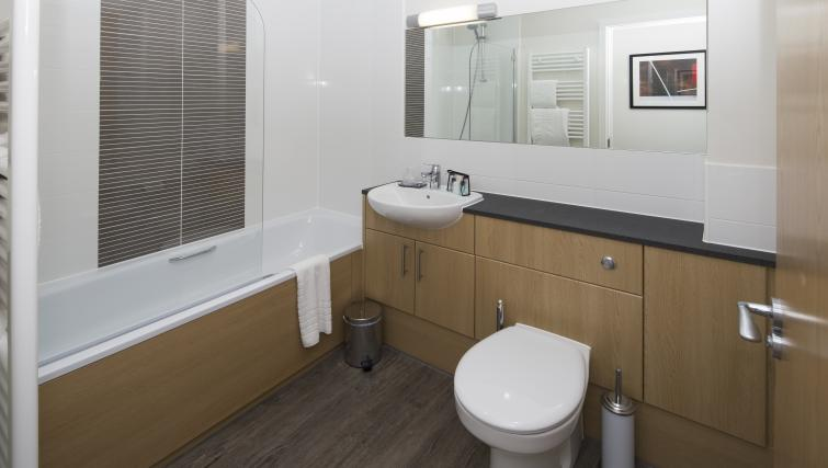 Bathroom at Beneficial House Apartments