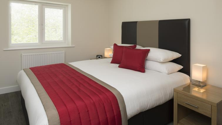Bedroom at Beneficial House Apartments