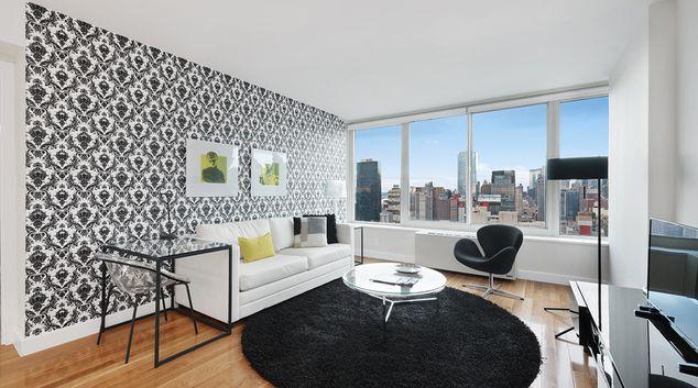 Living room at Olivia Apartments