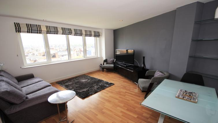 Living space at City Gate Apartments