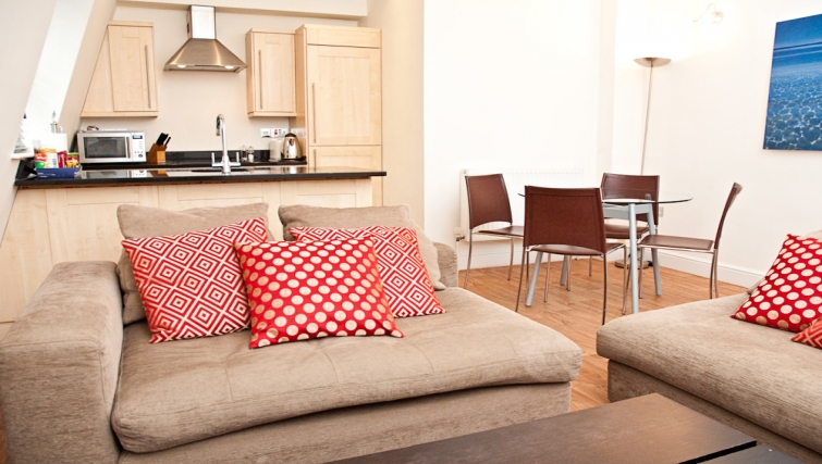 Cosy living area at Clarendon 140 Minories